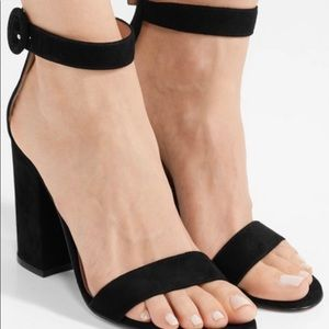 Gianvito Rossi's black suede Versilia sandal Sz 40